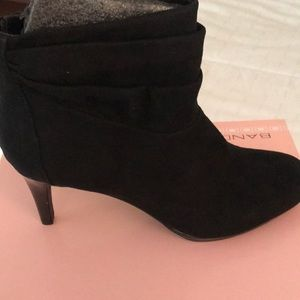Bandolino suede rouched booties